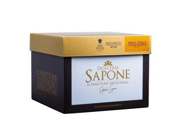 Panettone Pera, Noci e Cioccolata Dolceria Sapone