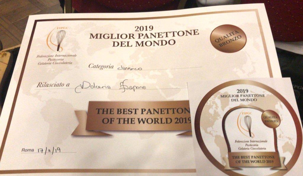Il nostro Roberto Sacchetti, 3° posto al Miglior Panettone del Mondo!