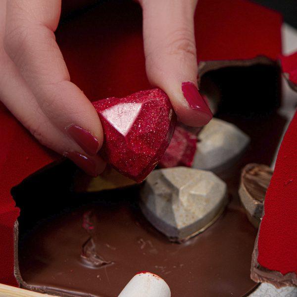 apri il tuo cuore dolceria sapone dettaglio con cioccolatini